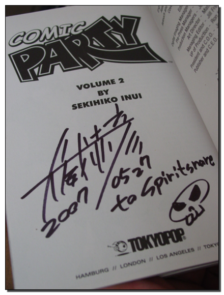 The front page autograph.